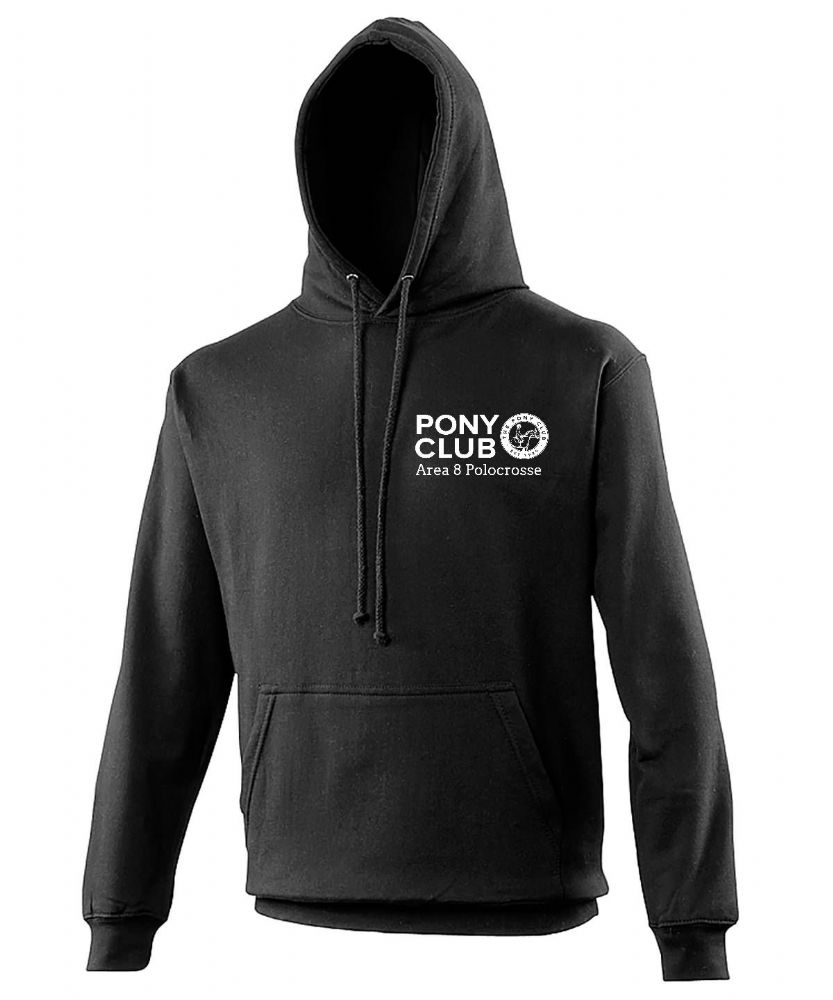 Adults  Area 8 Polocrosse Black Hoodie